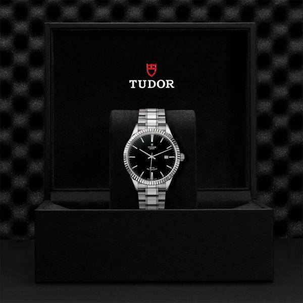 TUDOR Style DATE ACCIAIO NERO 12710