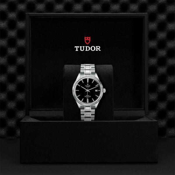 TUDOR Style DATE ACCIAIO NERO 12510