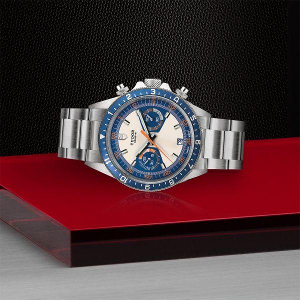 TUDOR Heritage Chrono Blue ACC.70330B OPALINE/BLU