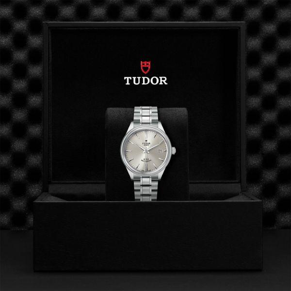 TUDOR Style DATE ACCIAIO ARGENTO